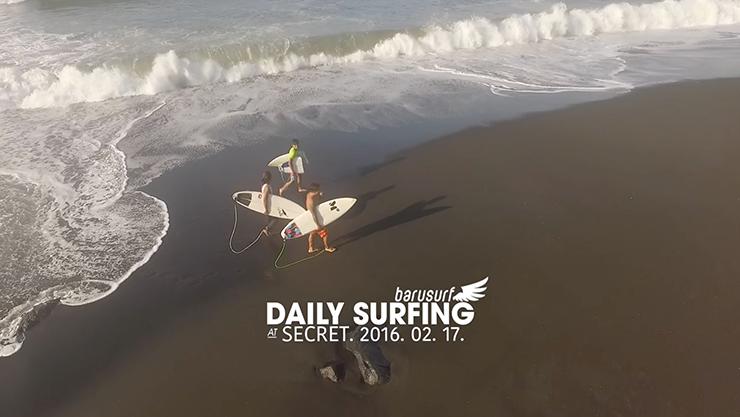 [발리서핑] 서핑 영상만 봐도 흥미진진한 바루서프 숏보드 캠프 2.17